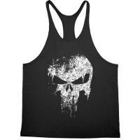 Майка  с черепом чёрная Skull  лот 4054
