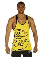 Майка мужская для спорта Gymshark Logo Yellow лот 4026
