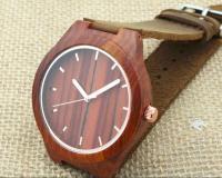 Наручные деревянные часы из красного дерева Red Wood # 002