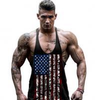 Майка для спортзала мужская купить USA Black лот 383