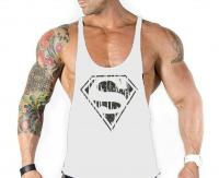 Спортивная майка Superman White #393